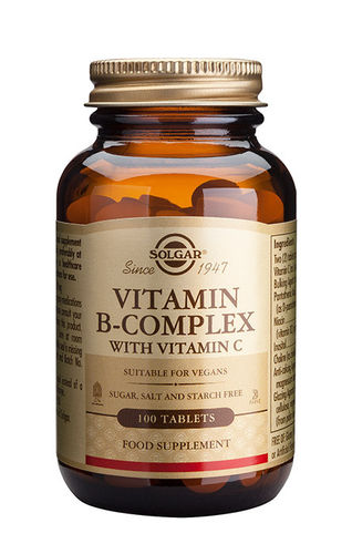 Vitamin B-complex plus C 100 tabletter