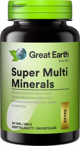 Great Earth Super Multi Minerals 90 tabl
