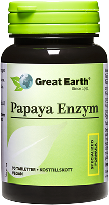 Great Earth Papaija Entsyymi 90 tabl