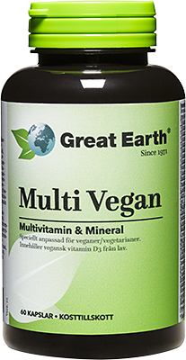 Great Earth Multi Vegan 60 kaps